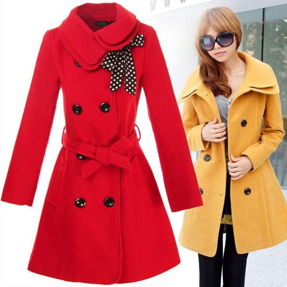 Ladies Fashion Overcoat Womenu0026#39;s Double Breasted Warm Winter Dust Coat Luxury Long Windbreak ...