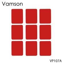 Vamson аксессуары 9 шт. красный плоский стикер на клейкой основе для Gopro hero 5 4 7 для SJ4000 для Xiaomi для Спортивная камера Yi VP107A