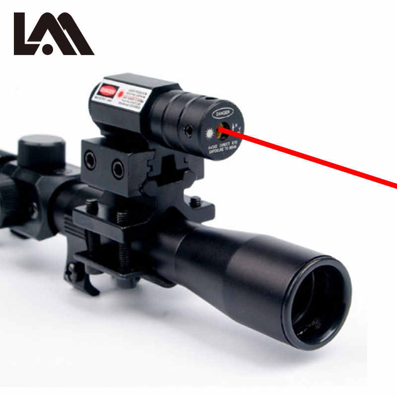 4x20 Crossbow Hunting Riflescopes Sight Tactical Optics Airsoft Air Guns  Scopes Sniper Reticle Pistol Sight Red Dot Laser Sight