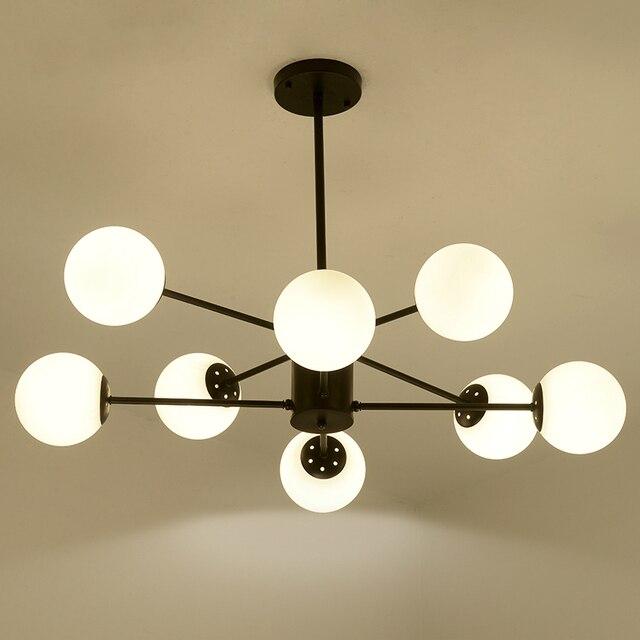 Norbic Brief White Glass Ball E27 Led Bulb Pendant Lighting Fixture Post Modern Diy Globle Magic