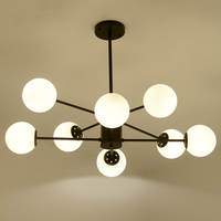 Norbic brief white glass ball E27 LED bulb pendant lighting fixture post modern DIY globle magic bean dining room pendant lamp