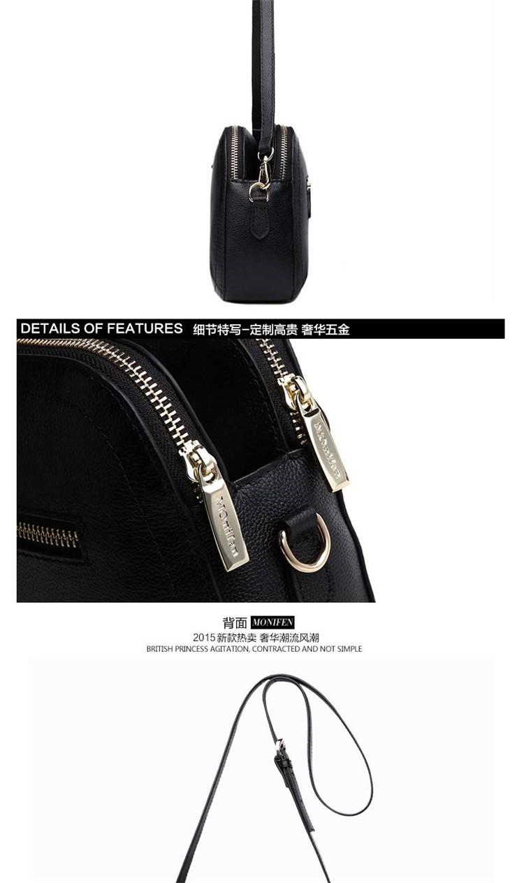 New 2015 Fashion Women Genuine Leather Messenger Bag Shoulder Bags Crossbody  Bolsos Carteras Mujer Marca Handbags Famous Brands10
