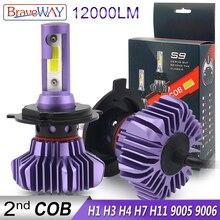 BraveWay Led Headlight for Auto Led Ice Bulb Car Led Light H4 H7 H11 9005 9006 HB3 BH4 H1 Automobile Diode Lamps H7 LED Bulb H4