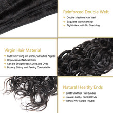 Indian Virgin Hair Bundles Unprocessed Water Wave Human Hair Bundles Natural Color Raw Indian Water Wave Hair Bundles