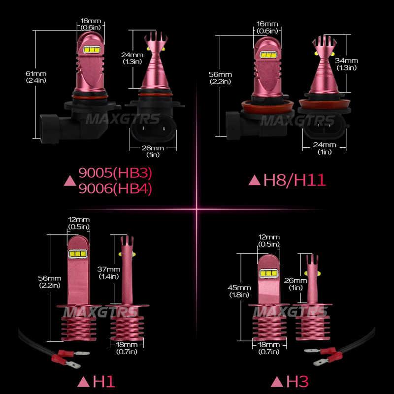 2x H1 H3 H8 H11 9005 9006 HB3 HB4 30W CREE Chips Led Bulb Daytime Running Light 3800K White Car Fog Lamps DRL Headlight DC 12V