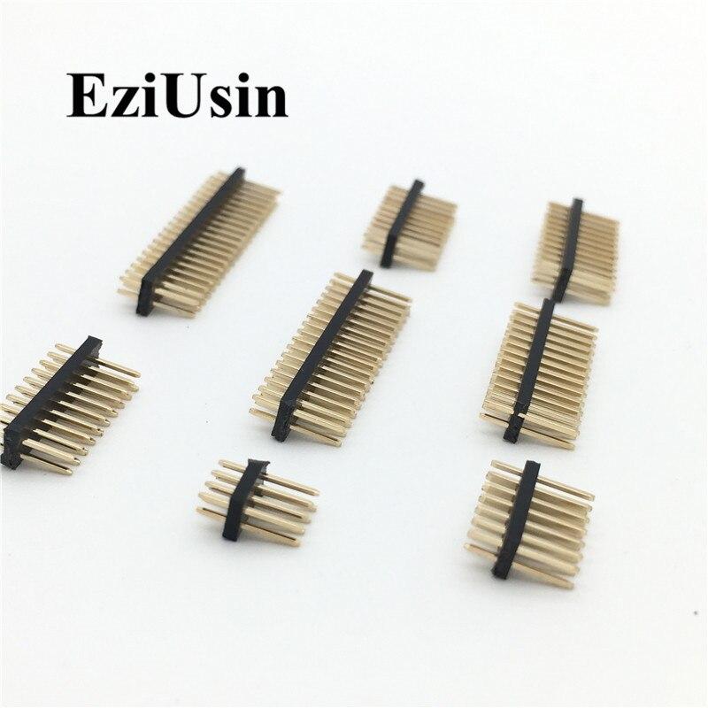 1.27mm 1.27 Double Row Male 2~40P Breakaway PCB Board Pin Header Connector Strip Pinheader 2*3/4/5/6/7/8/10/12/15/20/40p 3-50P