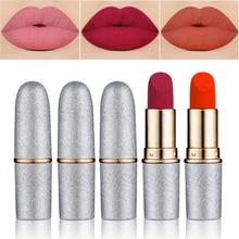 Lipstick Matte Waterproof Nutritious 12 Colors Easy To Wear Lipstick Long Lasting Lips
