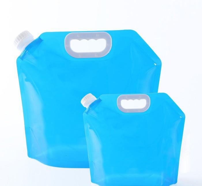 //5L Faltbar Storage Container Beutel mit Wasser Picnic Bucket Tragbare Tasche