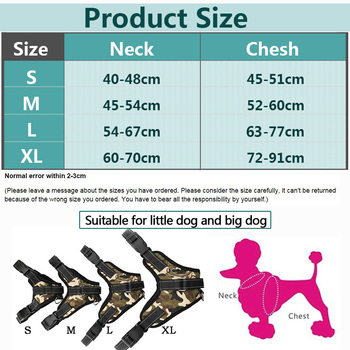 Pet Products for Large Dog Harness k9 3