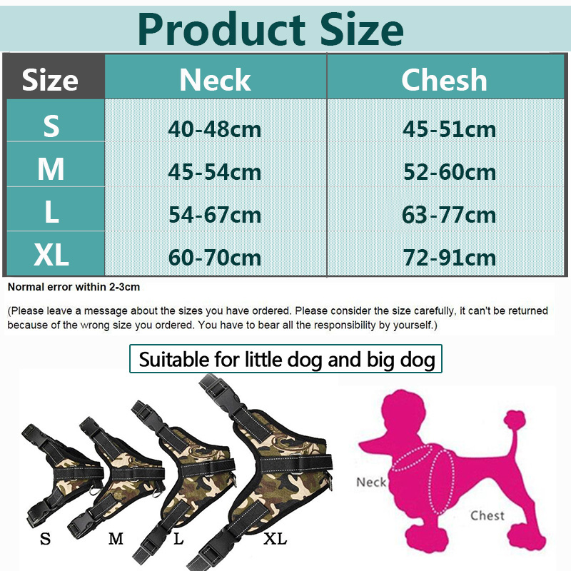 Collars, Harnesses & Leashes Dogs Large Dog Reflective Car Light Harness  My Pet World Store