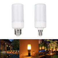 LED SMITH LED Flame Effect Fire Light Bulbs E27 E14 5W 3modes Safe And Energy Saving