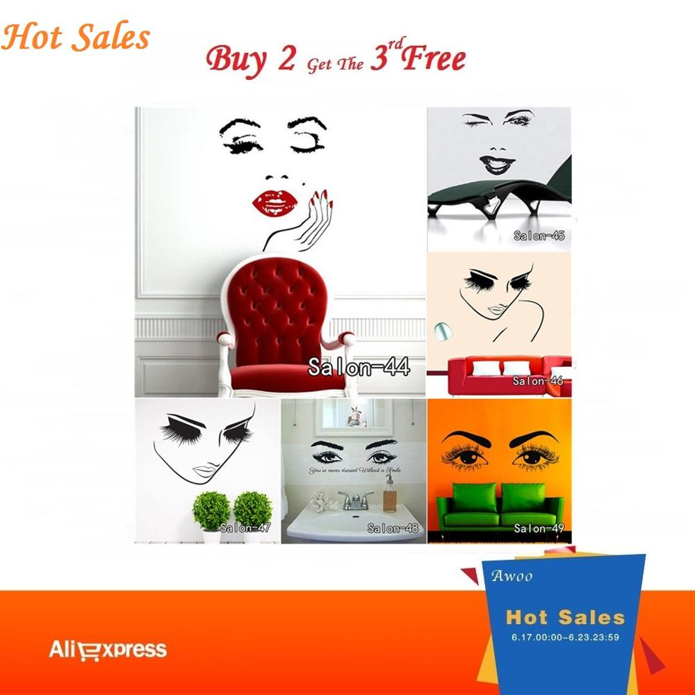 Top 8 Most Popular Beauty Face Wall Sticker Ideas And Get Free Shipping Tfbhemoz 53