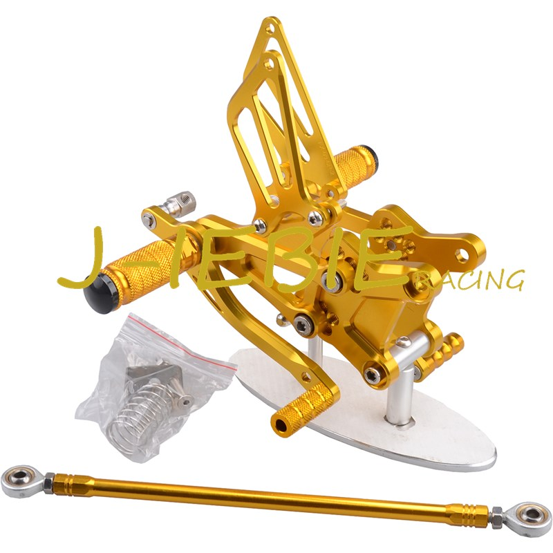 CNC Racing Rearset Adjustable Rear Sets Foot pegs For Honda CBR600 CBR 600 F4 F4I 1999 2000 2001 2002 2003 2004 2005 2006 GOLD