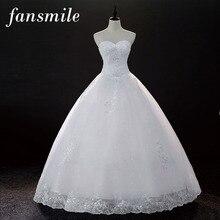 Fansmile Cheap Vintage Lace Up Wedding font b Dresses b font 2016 Vestidos de Novia font