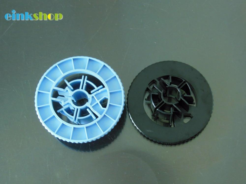 einkshop CAP Spindle hub (Blue+Black ) for HP DesignJet 500 800 1050 1055 100 130 plotter parts C7769-40169 c4704 40059 pinch arm media lever for hp designjet 2000cp 2500cp 2800cp 3000cp 3500cp 3800cp plotter parts