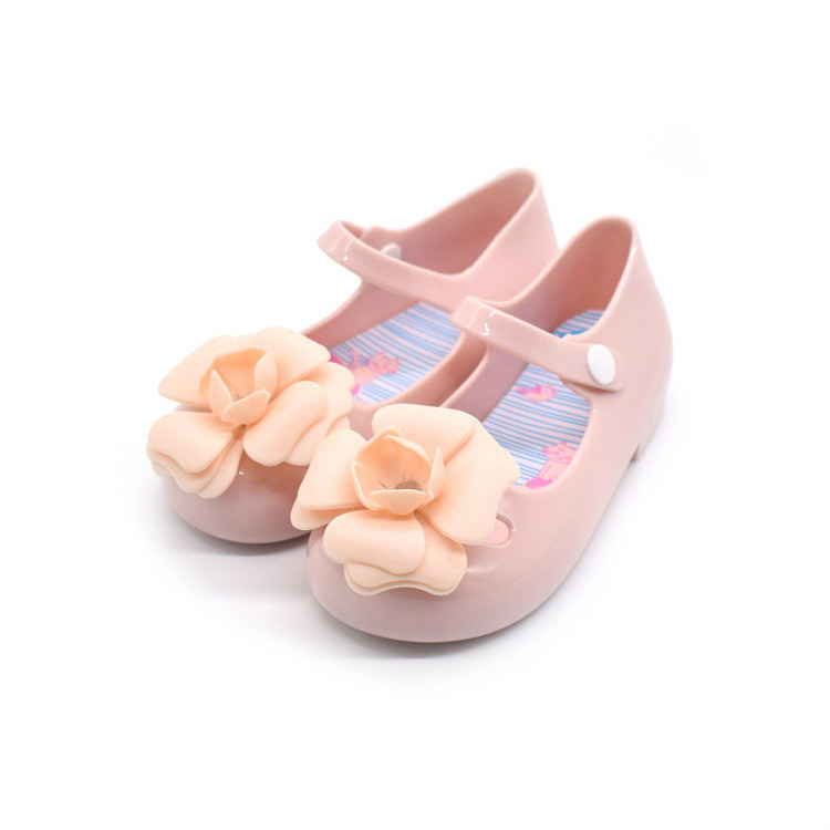 2018 Morning Glory Children PVC Jelly Shoe Flower Summer Girls Sandals Sandy Beach Lovely Princess Peep-toe Melissa Size 24 - 29