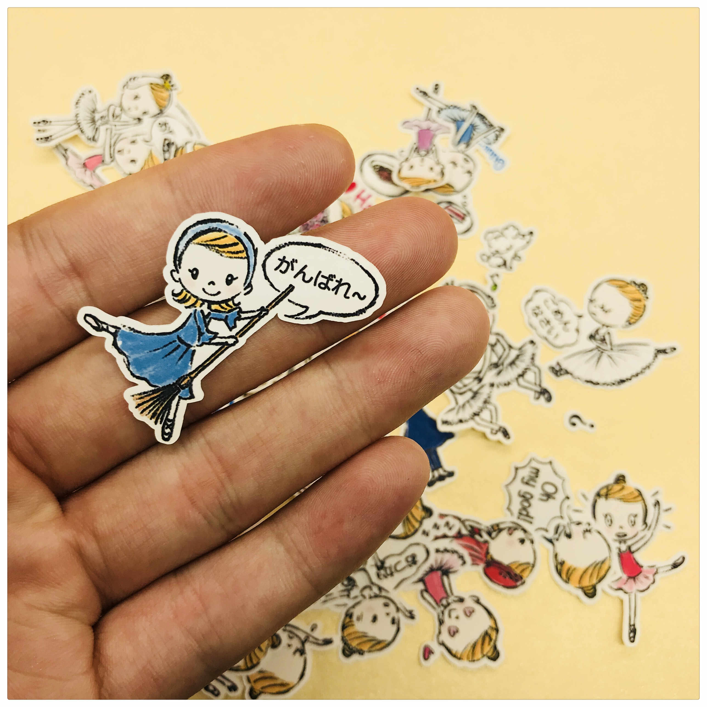 35-80 piezas chica Kawaii bailando ballet decoración papelería pegatinas diy diario scrapbooking etiqueta papelería
