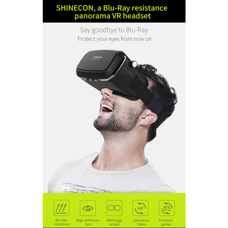 HL VR/AR Glasses 3D Glasses Vritual Reality Shinecon Headset VR Glasses universal 3D Box For smart iphone for 4.7 6.0 size dec12