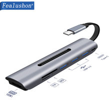 Fealushon Docking Station with Type C Plug HDMI USB Power Delivery Hub for Laptop Macbook Pro HP DELL Surface Lenovo Samsung(China)