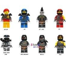 Único Modelo de Blocos de Construção Ninja Cobra focinho cole jay kai zane jetjack skullbreaker Skylor construção Brinquedos para as crianças