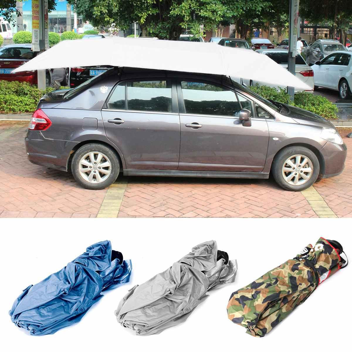 400x210cm semi-automatique voiture parapluie parasol tente couverture de toit Anti-UV Protection chaude extérieur protecteur soleil ombre été
