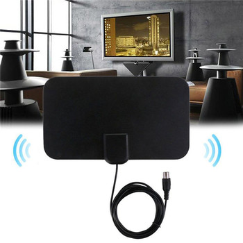 new Digital Freeview Range Ultra-thin Digital Indoor Antena TV HDTV Antenna High Signal Capture Cable Signal Amplifie Antenna image