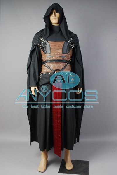 Star Wars Cosplay Darth Revan Qara Film Kişi Üçün Halloween - Karnaval kostyumlar - Fotoqrafiya 2