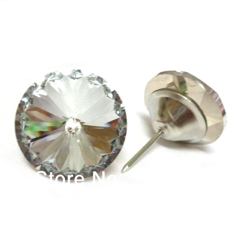 ⑥10pcs 30mm Satellite Pattern Glass Sofa Nail Button Sofa Decor ...