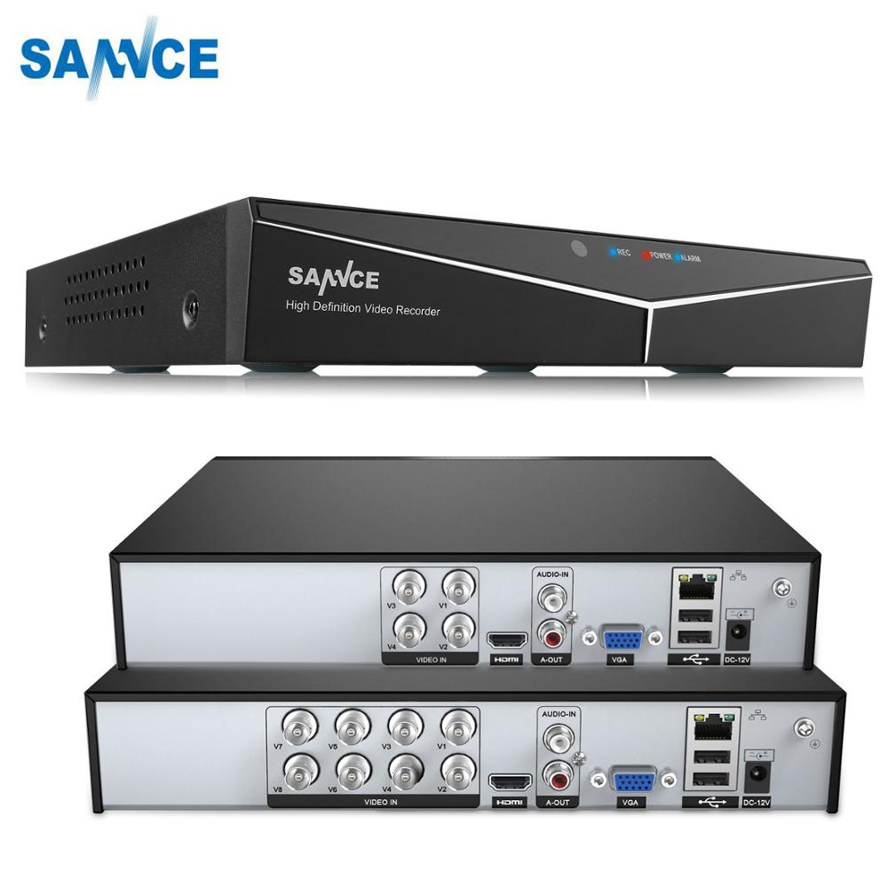 SANNCE 4 8 Channel 720P H 264 Video Recorder HDMI Network D1 Realtime CCTV DVR 8CH