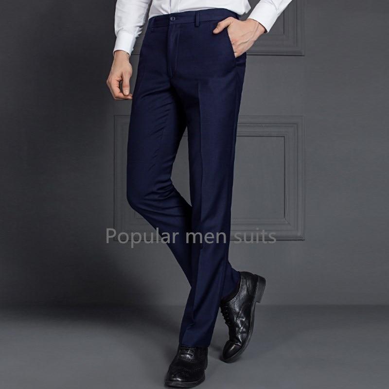 2018 Custom Made Classic Slim Fit Etero Abito Da Sposa Suit Pantaloni Uomo Moda Ufficio Affari Pantaloni Per Gli Uomini Taglia Xs-5xl Alleviare Il Calore E La Sete.