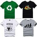 Science Geek T-shirt Evolution Recycle T Shirts Comic tee tshirt The Big Bang Theory Schrodingers Cat Magic Cube