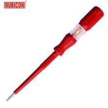 Японские электрические инструменты RUBICON, RVT-212, тестовый карандаш, 220~ 250 В, светодиодный тест напряжения, er ручка, диаметр 3,5 мм, с прорезями, одобрено VDE