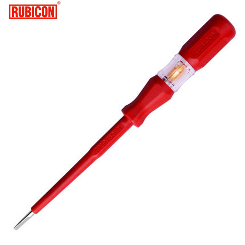 Japon RUBICON Électrique Outils RVT-212 Test Crayon 220 ~ 250 V LED Tension Testeur Stylo Diamètre 3.5mm Fendue VDE approuvé