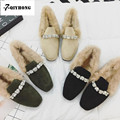QIYHONG  BRAND Fashion Winter High Quality Snow Boots Female Diamond Women Shoes Plus Velvet  Wool Warm Cotton Shoes Size35~39