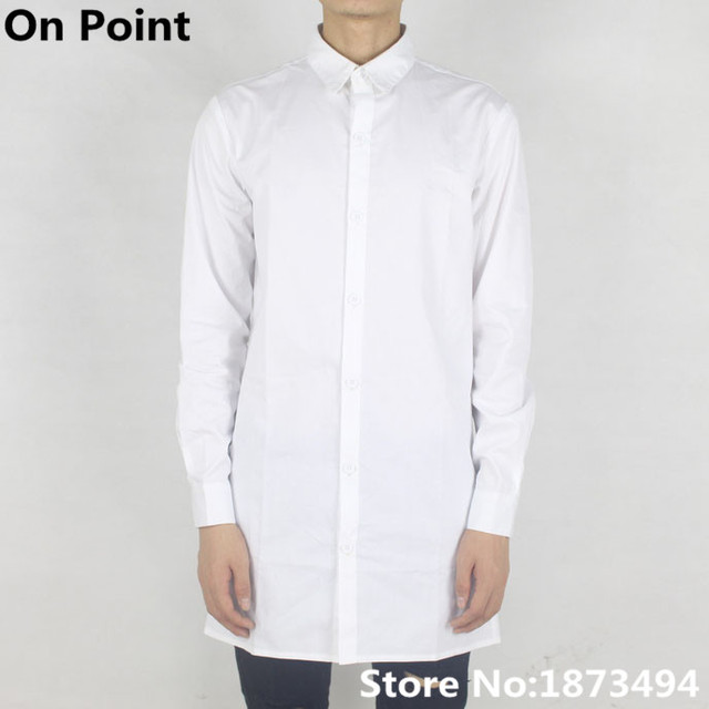summer mens designer clothes white extra long sleeve shirts oversized  extended dress t shirt men S-XXL kanye west streetwear 0368dfa575e
