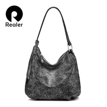 REALER shoulder bag women genuine leather fashion handbags f