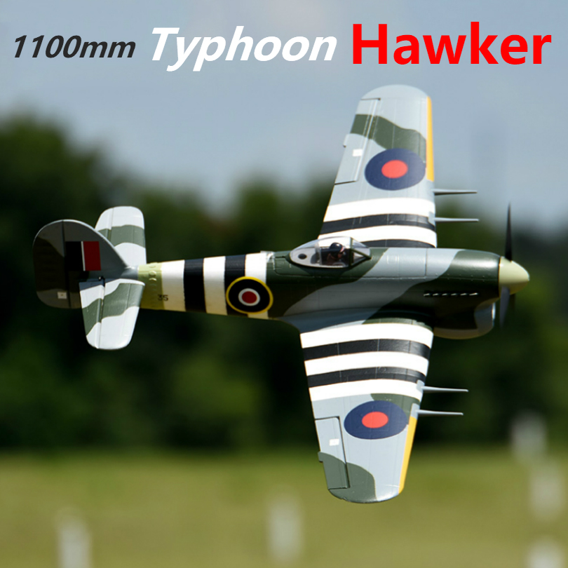 FMS 1100MM 1.1M Hawker Typhoon 6CH With Flaps Retracts 3S EPO PNP RC Airplane British Warbird Hobby Model Plane Aircraft Avion