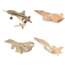 3d rompecabezas de madera juguetes de aviones avión helicóptero modelo juguetes educativos Juegos para niños juguetes educativos para adultos