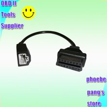 High Quality OBD Extension Cable 3pin OBD1 Adapter OBD2 OBDII for Honda 3 pin to 16 pin Connector CNPAM With Tracking No.