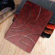 Estilo de negocios de lujo de la marca de la pu caso elegante de cuero para ipad mini 4 flip book cubierta de 7.9 pulgadas tableta del caso del soporte para el ipad mini 4