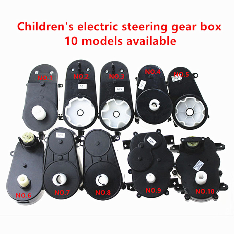 RS380 Gear Box Electric Motor Steering Gearbox 6V//12V pour enfants Voiture enfant jouet