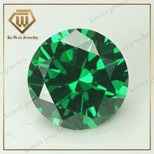 Green Cubic Zirconia Stone AAAAA 2.75mm-5mm Synthetic Gemstone Round Shape Cubic Zirconia Stone