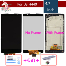 For LG Spirit LCD H442 H440 Screen H440F H440N H440Y H442 H442F H443 LCD DisplayTouch Screen Digitizer Assembly with frame