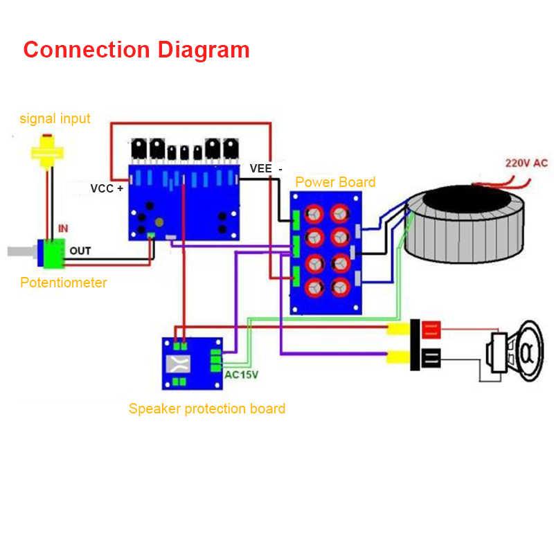2 шт. L20 SE 350 W аудио усилитель Совет TOSHIBA A1943 C5200 двойной Канальные усилители diy kit и закончил доска