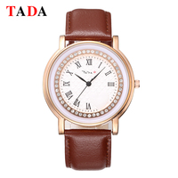 Tada Brand Women Bracelet Watches Genuine Leather Roman Crystal Fashion Waterproof Quartz Casual Ladies Watch relogio feminino