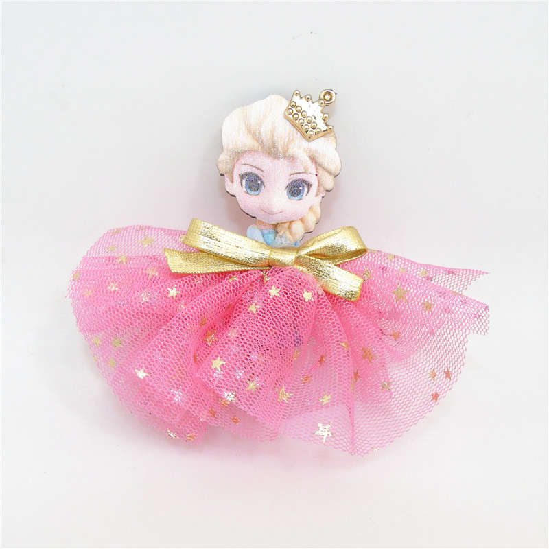 10Pcslot Gold Glitter Star Fairy Princess Hair Clip Light -9207