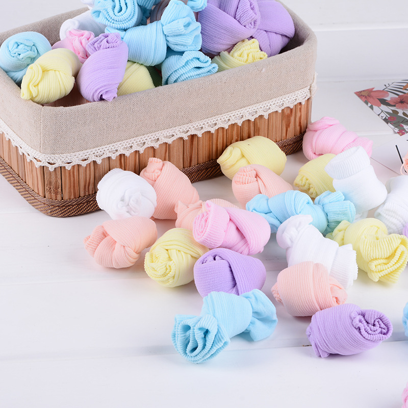 20 Pcs=10 Pairs Newborn Girls Boys Socks Cute Socks For Babies Candy Color Infant Socks For 0-24 Months Baby Girls And Boys