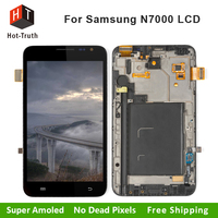Hot Truth LCD Display For Samsung Galaxy Note I9220 N7000 Touch Screen Digitizer Assembly With Frame