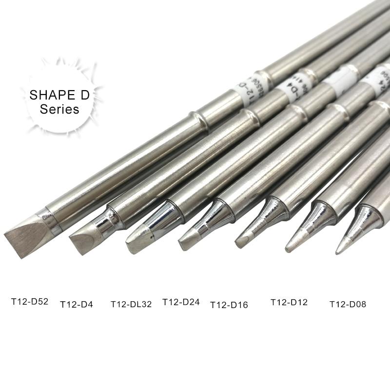 QUICKO SHAPE D Series T12 soldering iron tips T12 D52 D4 DL32 D24 D16 D12 D08 For STC/STM32 LED/OLED digital Controller|Welding Tips| |  - title=