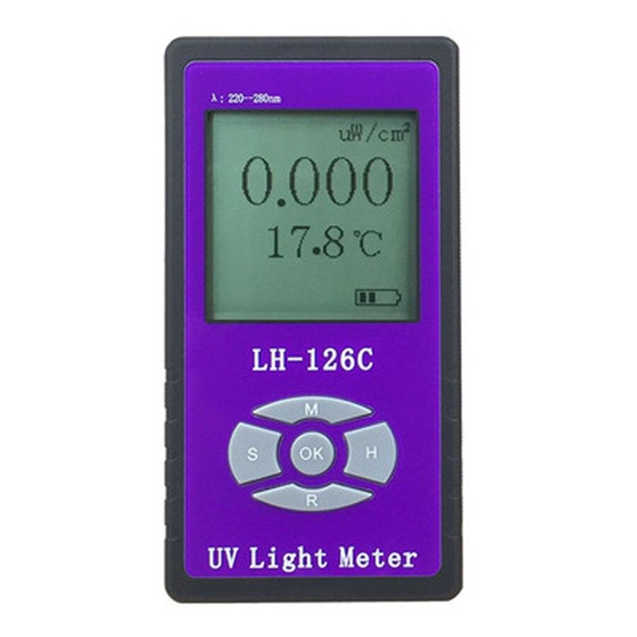 UV Puissance Light Meter Éclairement Testeur UVC Radiomètre Irradiometer Spécial pour L'hôpital UV germicide lampe